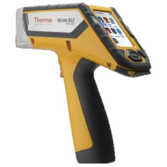 The Niton XL2 Analayzer. Giving both alloy grade identification and chemical analysis of the scanned material